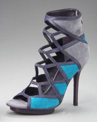 Tory Burch | Blue Sheila Colorblock Sandal | Lyst