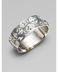Alexander McQueen | White Medium Skull Cuff Bracelet | Lyst
