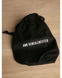 Ann Demeulemeester Black Womens Selby Wallet