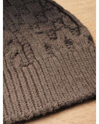 Balenciaga | Brown Mens Wool Cable Knit Beanie for Men | Lyst