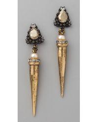 Erickson Beamon - Metallic Beauty & The Beast Earrings - Lyst