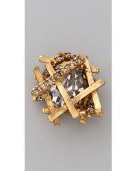 Erickson Beamon - Metallic Razors Edge Earrings - Lyst
