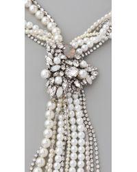 Erickson Beamon White Wedding Necklace