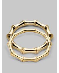 Gucci | Metallic 18k Yellow Gold Large Bamboo Bracelet | Lyst