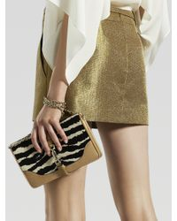 Gucci Metallic Belted Mini Skirt