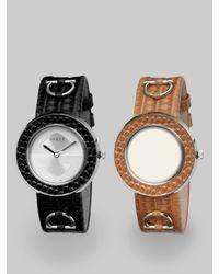 Gucci | Multicolor U-play Interchangeable Lizard Watch | Lyst