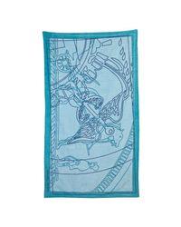 Hermès | Blue Terry Pegasus Print Beach Towel | Lyst