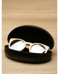 Illesteva - Natural Leonard Wood Sunglasses - Lyst