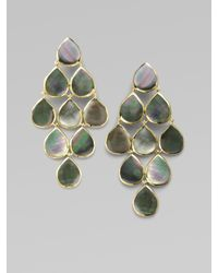 Ippolita - Green Black Shell & 18k Gold Cascade Earrings - Lyst