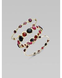 Ippolita - Red 18k Gold Ruby Cabochon Bangle - Lyst