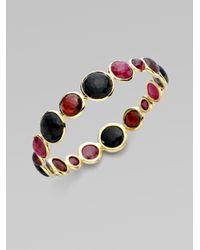 Ippolita - Red 18k Gold Ruby Cabochon Bangle - Lyst
