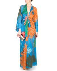 Issa | Multicolor Coral Print Kimono Gown | Lyst