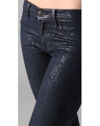 J Brand | Blue Boa Print Coated Skinny Jeans | Lyst