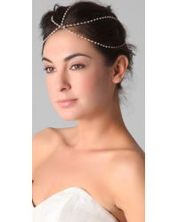 Jacquie Aiche | White Moonstone Rondelles Dome Headpiece | Lyst