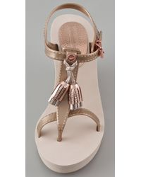 Juicy Couture Metallic Lily Wedge Sandals
