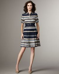 kate spade new york | Blue Jeanette Stripe Dress | Lyst