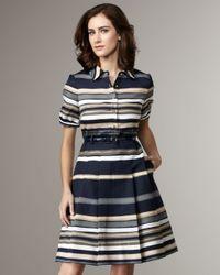 kate spade new york - Blue Jeanette Stripe Dress - Lyst