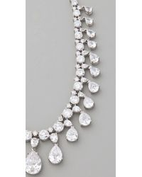 Kenneth Jay Lane | Silver Vanderbilt Necklace | Lyst