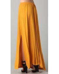 LNA | Yellow Maxi Skirt | Lyst