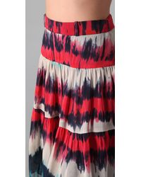 MILLY - Multicolor Ali Gathered Tie Dye Skirt - Lyst