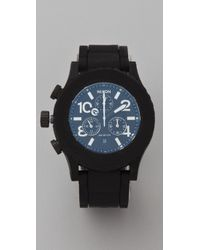 Nixon Black The Rubber 42-20 Chrono Watch