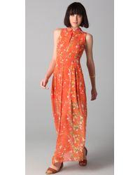 Opening Ceremony | Orange Sleeveless Pleated Maxi Dress | Lyst