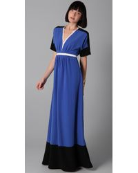 Sachin & Babi | Blue Brady Colorblock Maxi Dress | Lyst