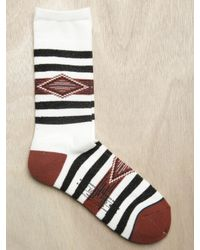 Sasquatchfabrix | Brown Mens Striped Geometric Socks for Men | Lyst