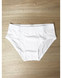 Sunspel | White Mens Superfine Brief for Men | Lyst