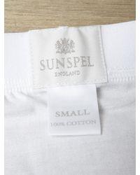Sunspel - White Mens Superfine Brief for Men - Lyst