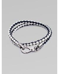 Tod's - Black Leather Bracciale for Men - Lyst