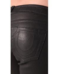 True Religion | Black Stella Stretch Leather & Suede Pants | Lyst