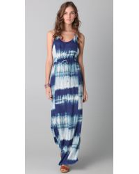 Twelfth Street Cynthia Vincent - Blue Racer Back Tie Dye Maxi Dress - Lyst
