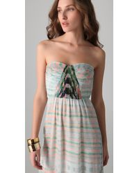 Twelfth Street Cynthia Vincent - Multicolor Shirred Corset Maxi Dress - Lyst