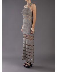 Bec & Bridge Gray Anja Crochet Maxi Dress