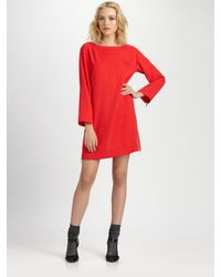 Marc By Marc Jacobs | Red Clark Twill Dress | Lyst