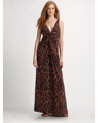 Tory Burch | Blue Coral Silk/cotton Dress | Lyst