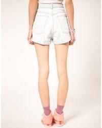 American Apparel | White Denim Shorts | Lyst