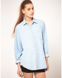 American Apparel | Blue Denim Shirt | Lyst
