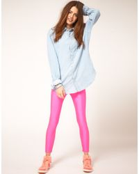 American Apparel | Pink Leggings | Lyst