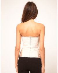 ASOS Collection | Natural Asos Corset with Ribbon Cording | Lyst