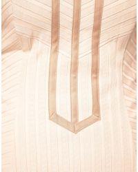 ASOS Collection - Natural Asos Corset with Ribbon Cording - Lyst