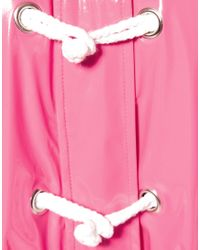 ASOS Collection Pink Asos Plastic Rainmac with Rope Tie Detail