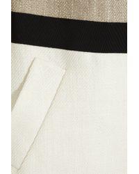Giambattista Valli   Brown Color-blocked Woven Coat   Lyst