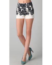 Peter Som - White Bamboo Print Shorts - Lyst