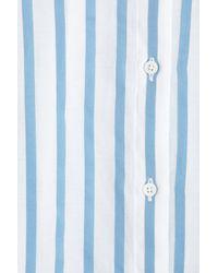The Row - Blue Shore Striped Cotton Shirt - Lyst