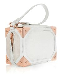 Alexander Wang - Natural Jade Stingray, Leather and Suede Wristlet Bag - Lyst