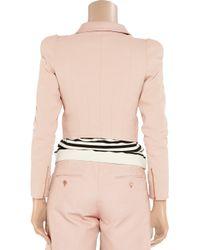Carven - Pink Linen-Blend Cropped Jacket - Lyst
