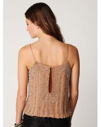 Free People Natural Beaded Cami