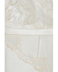 La Perla - White Must Masquerade Satin and Lace Chemise - Lyst